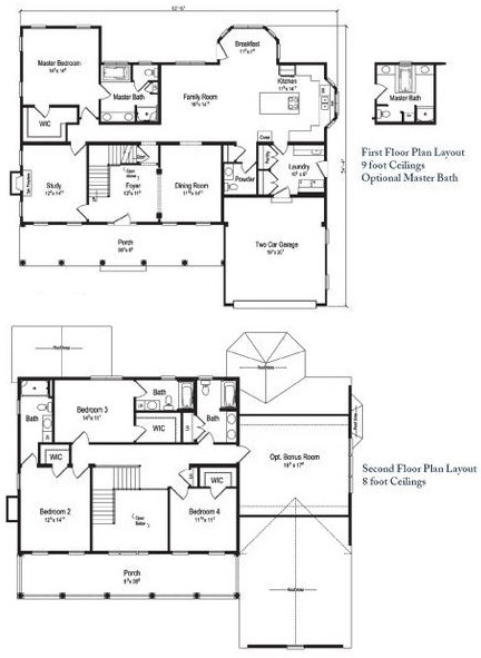 Tidewater Home Plans Floor Plans